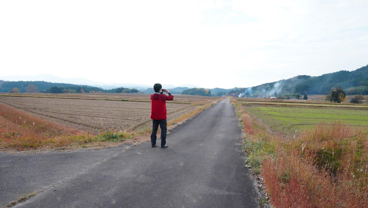 今回の舞台は萩市むつみ地域。山中に広大な田園風景が広がっています。なぜ?