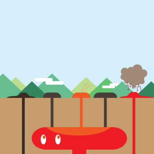 萩・阿武のマグマの活動のイメージ02