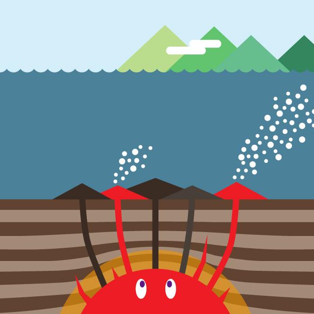 日本海のマグマの活動のイメージ02