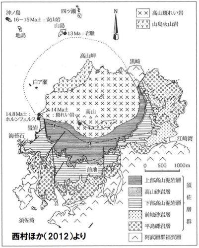 高山周辺の地質図
