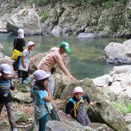 長門峡自然学習の写真04